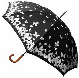 "46"" Auto Color-Changing Butterfly Print UmbrellaInner Pack -"