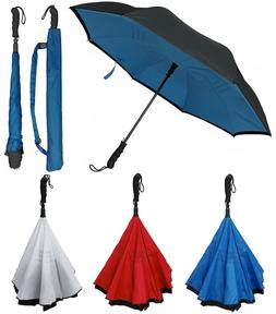 "46"" Arc, Auto Inverted Inside-Out Upside-Down Umbrella-Rai"