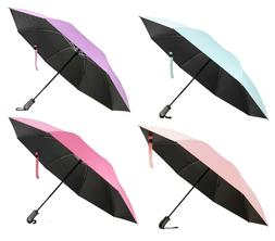 "46"" Inverted Folding Umbrella Windproof UV Vinyl Coating -"