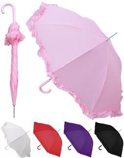 "48"" Arc Parasol Style Auto Umbrella - RainStoppers, Rain/Sun"
