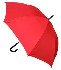 "RainStoppers Umbrella 48"" Auto Open with Black Hook Handle,"