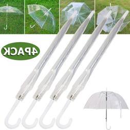 "4X 46"" Arc Clear Full Dome Style Umbrella - Rain Fashion Bub"
