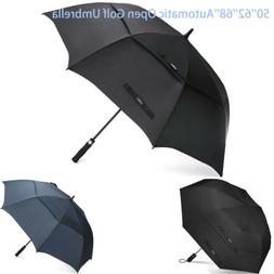 50/68''Women Men Automatic Open Golf Umbrella Double Large C