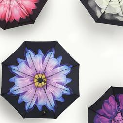 50+ Anti-UV Sun Rain Protection Windproof Flower Parasols 3