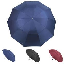 "60"" Large Umbrella Men/Women Three Folding Anti-UV Windproof"