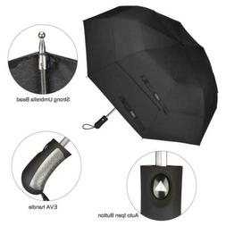 58 Inch Portable Golf Umbrella Windproof Double Canopy Stron