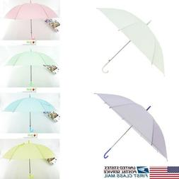 6 Color Transparent Scrub Umbrella Long Handle Straight Stic