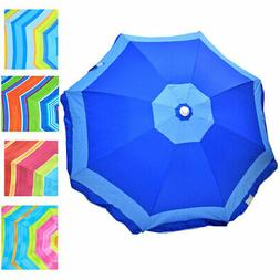 6 ft Rio Beach Umbrella Sunshade Shelter with Tilt and optio