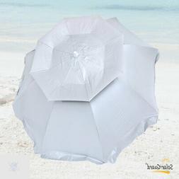 6 ft SolarGuard Deluxe Dual Canopy Beach Umbrella UPF 150+ U