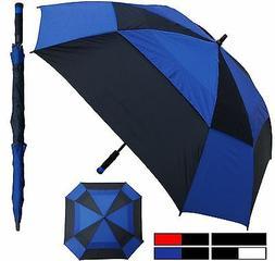 "60"" Arc Square Windbuster Fiberglass Auto Golf Umbrella -R"