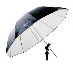 "GTX Studio 60"" Black/White Umbrella with 10 Panels Fiberglas"