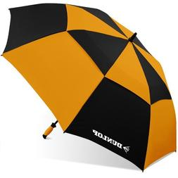 "Dunlop 60"" Double Canopy Folding 2-Person Golf Umbrella Wind"