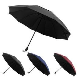 "60"" Extra Large Golf Umbrella Oversize Sun Rain Windproof Fo"
