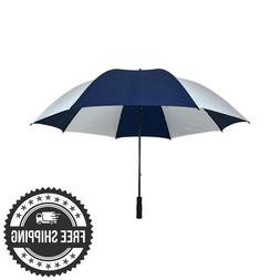 "60"" Golf Umbrella Windproof  Canopy West Chester Blue And Wh"