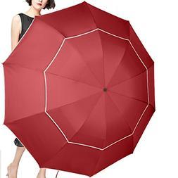 SEEU 60 Inch Golf Umbrella Compact & Lightweight, 10 Ribs Ra