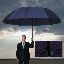 60 inch Large Umbrella Men/Women Three Folding Anti-UV Windp