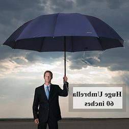 60 inch Super Big Business Men Woman Rain Windproof Umbrella