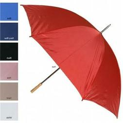 RainWorthy 60 inch Wind-Proof Solid Color Umbrella - White -