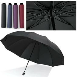 "60"" Large Umbrella Men/Women Three Folding Anti-UV Windproof"