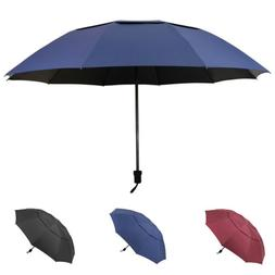 "60"" Large Umbrella Strong Skeleton Golf Folding Anti-UV Wind"