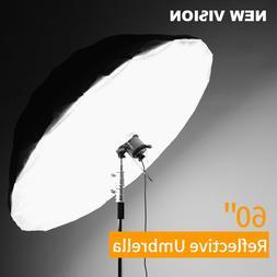 Godox 60'' Photography Silver Black Reflective Umbrella with