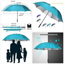 G4Free 62/68 inch Extra Large Windproof Golf Umbrella Automa