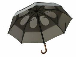 """GustBuster 62"""" Canopy Doorman Umbrella, Suit Grey"""