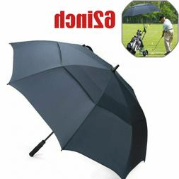 Blue 62'' Golf Umbrella Oversize Automatic Open Double Large