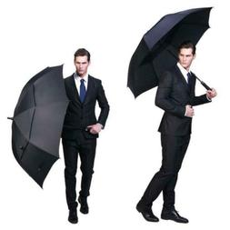 "68"" Extra Large Golf Umbrella Windproof Automatic Open Doubl"