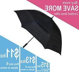 KUD 68 Inch Automatic Open Stick Golf Umbrella with Large Ov