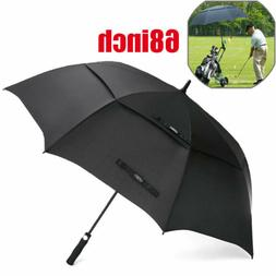 68'' Oversize Automatic Open Golf Umbrella Double Canopy St