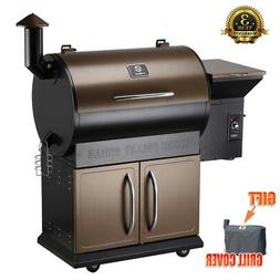684sq. in Wood Pellet Smoker bbq Grill and Electric Pellet w