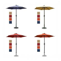 6ft Patio Umbrella/Outdoor Table Umbrella, with Sturdy Ribs