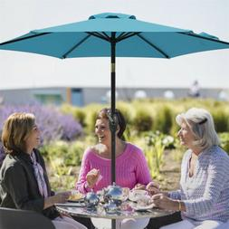 7.5 Ft Patio Umbrella Outdoor Market Table Umbrella with Cra