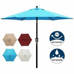 7.5Feet Outdoor Patio Table Umbrella Garden Yard Tilt Crank