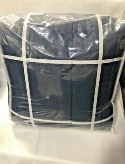 AmazonBasics 7-Piece Bed-In-A-Bag - Full/Queen, Navy Simple