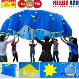 "70"" Play Parachute Kid Children Sports Rainbow Umbrella Outd"