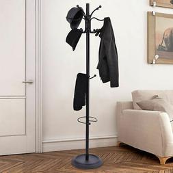 """72"""" Metal Coat Hat Jacket Stand Tree Umbrella Holder Hanger"""
