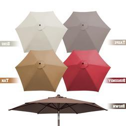 8.2ft 6 Ribs Patio Umbrella Canopy Replacement Parasol Sunsh