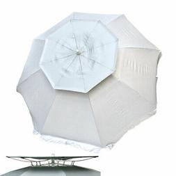 8 ft Deluxe SolarGuard Dual Canopy Beach Umbrella UPF 150+ U