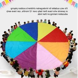 8 Handles 3M Kid Child Play Rainbow Umbrella Parachute Sport