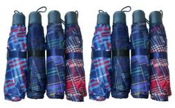 "8 Pack Telescopic 42"" Umbrellas Travel Purse Folding Rain As"