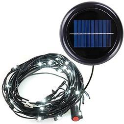 AMPERSAND SHOPS 10-Ft. 8-Rib Outdoor Patio Umbrella Solar-Po