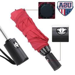 8 Ribs Automatic Windproof Strong Compact Umbrella Auto Open