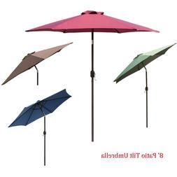 8Ft 9Ft 10Ft Outdoor Patio Umbrella Market Table Yard Garden