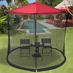 9-10 FT Home Garden Lawn Outdoor Umbrella Table Screen Mosqu