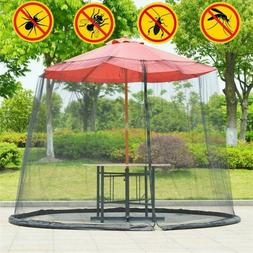 9/10FT Umbrella Table Screen Cover Mosquito Bug Insect Net P
