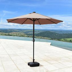 9'FT Solar 24 LED Lights Patio Garden Umbrella Outdoor Sunsh