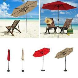 9' Patio Umbrella 8 Rib Yard Garden Sun Shade Market Steel T