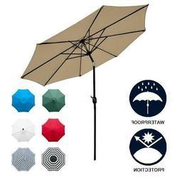 Sunnyglade 9' Patio Umbrella Outdoor Table Umbrella With 8 S
